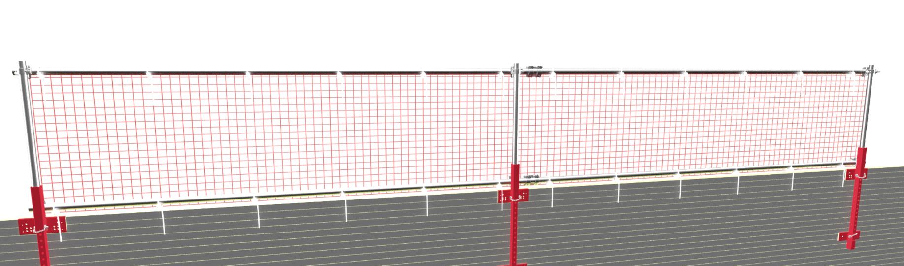 Seitenschutz an Dachkante zum Schutz vor herabstürzenden Baumaterialen